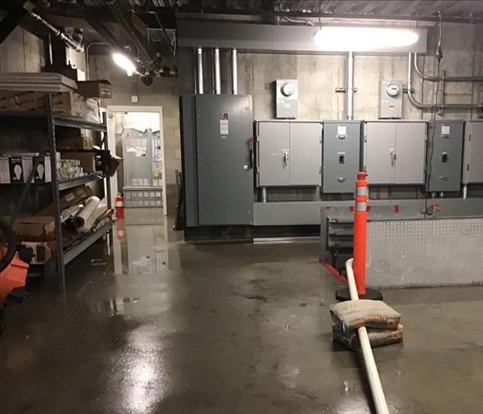 wet basement floor